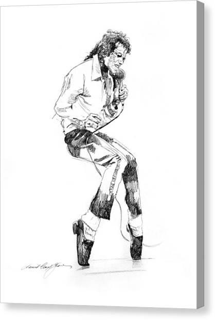 Michael Jackson Canvas Print - Michael Jackson - King Of Pop by David Lloyd Glover