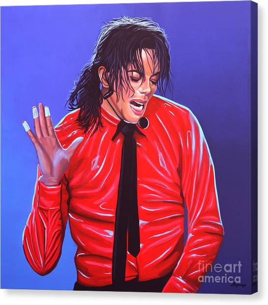 Kings Canvas Print - Michael Jackson 2 by Paul Meijering