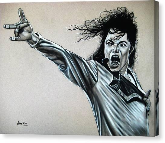 Michael Jackson Canvas Print by Anastasis  Anastasi