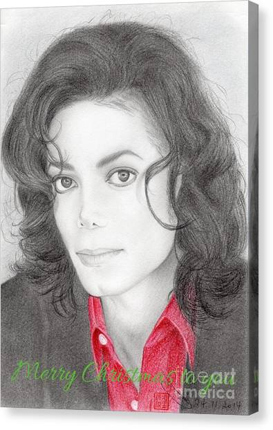 Michael Jackson Christmas Card 2016 - 006 Canvas Print
