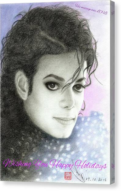 Michael Jackson Christmas Card 2016 - 007 Canvas Print