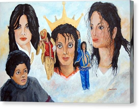Michael Jackson-faces Canvas Print by Janna Columbus