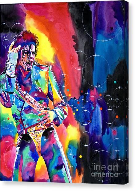 Michael Jackson Canvas Print - Michael Jackson Flash by David Lloyd Glover