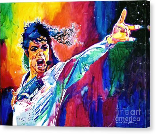 Michael Jackson Canvas Print - Michael Jackson Force by David Lloyd Glover