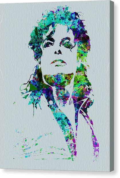 Michael Jackson Canvas Print - Michael Jackson by Naxart Studio