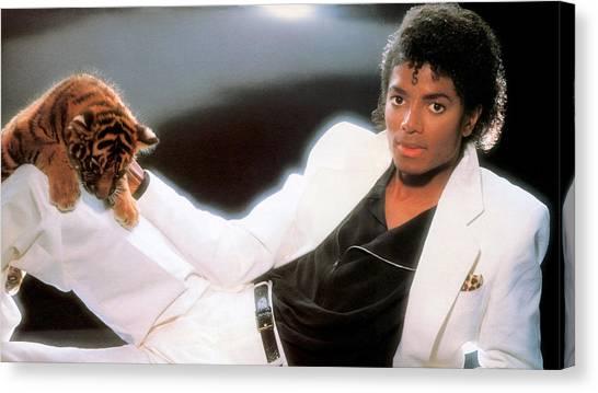 Michael Jackson Canvas Print - Michael Jackson by Mariel Mcmeeking
