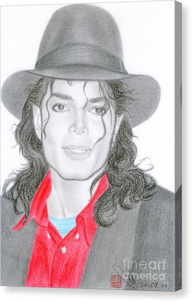 Michael Jackson #nine Canvas Print