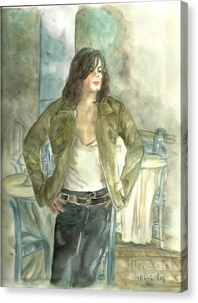 Michael Jackson One More Chance Screenshot Canvas Print by Nicole Wang