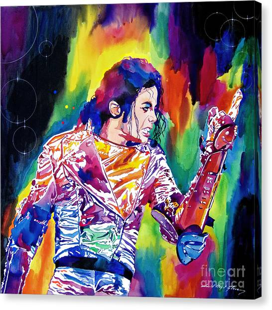 Michael Jackson Canvas Print - Michael Jackson Showstopper by David Lloyd Glover