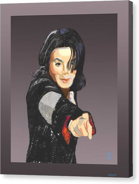 Michael Jackson-tell It Like It Is Canvas Print