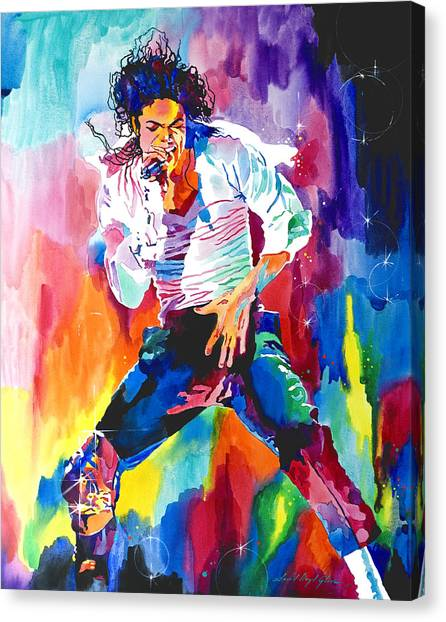 Michael Jackson Wind Canvas Print