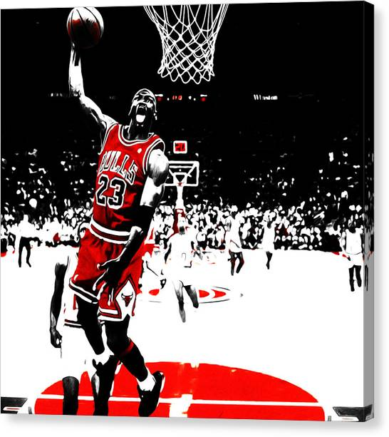 Russell Westbrook Canvas Print - Michael Jordan 23e by Brian Reaves