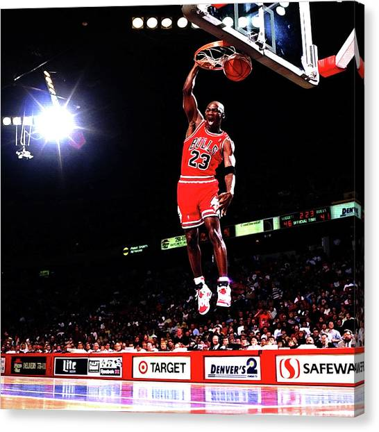 Russell Westbrook Canvas Print - Michael Jordan 23f by Brian Reaves