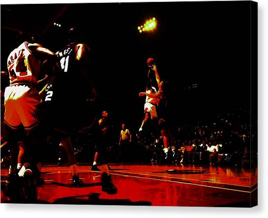 bcfb8d09e76c Foot Locker Canvas Print - Michael Jordan 3 Seconds Left by Brian Reaves