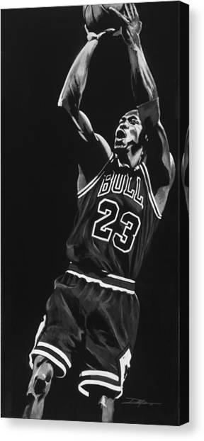Charlotte Bobcats Canvas Print - Michael Jordan by Don Medina