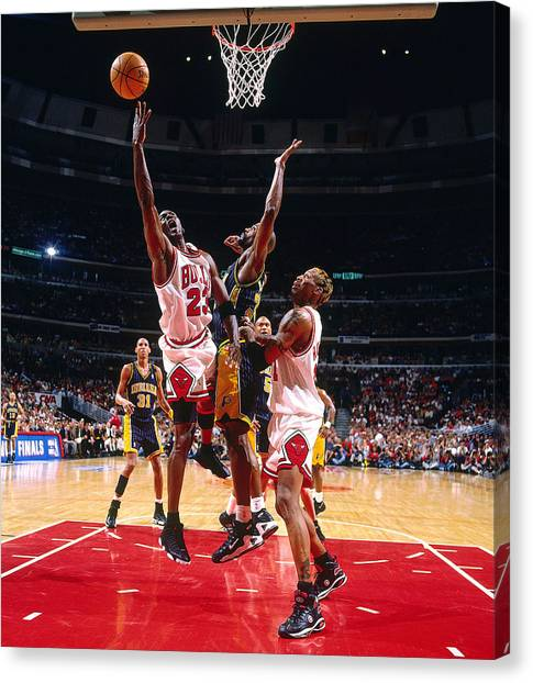 Basketball Players Canvas Print - Michael Jordan by Jackie Russo