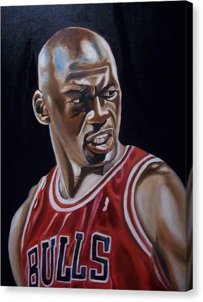 Michael Jordan Canvas Print by Mikayla Ziegler