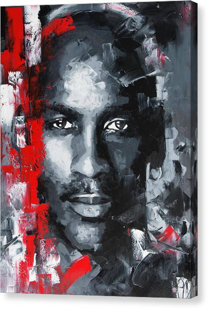 Tiger Woods Canvas Print - Michael Jordan by Richard Day
