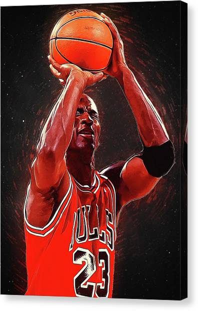 Larry Bird Canvas Print - Michael Jordan by Semih Yurdabak