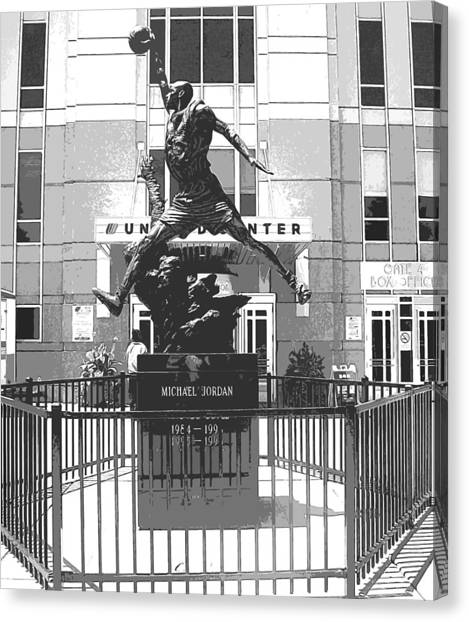 Michael Jordan Statue Canvas Print by Amber Roth