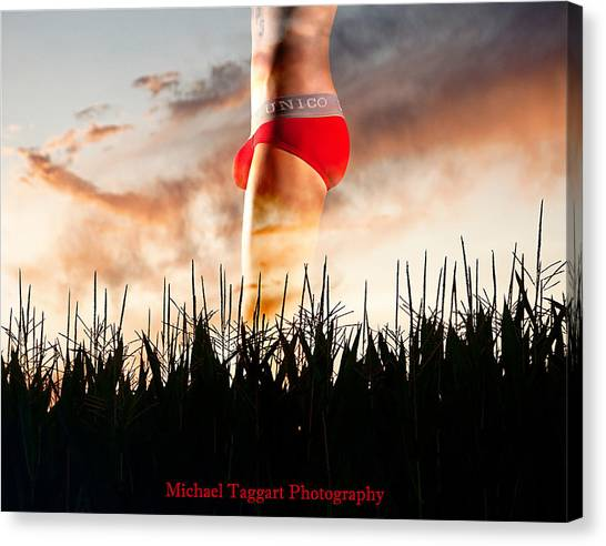 Michael Phelps Sunset Canvas Print