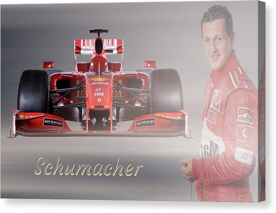 Formula 1 Canvas Print - Michael Schumacher by Smart Aviation