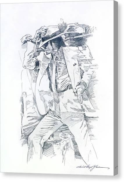 Michael Jackson Canvas Print -  Michael Smooth Criminal II by David Lloyd Glover