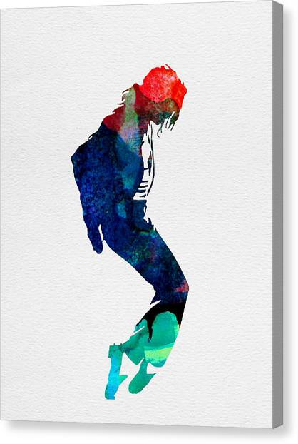 Classical Guitars Canvas Print - Michael Watercolor by Naxart Studio