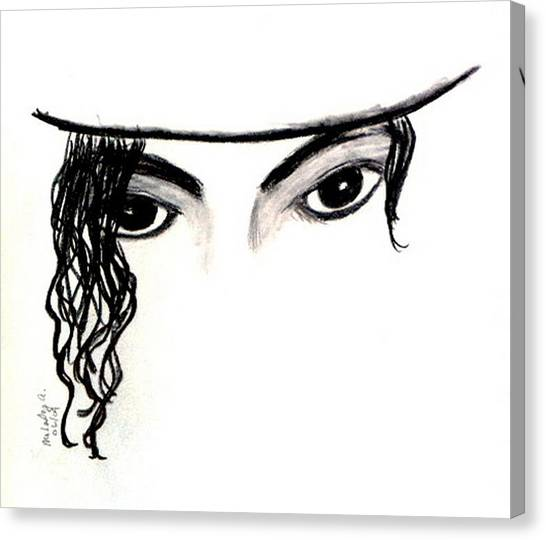 Michael's Eyes Canvas Print by Melody Anderson