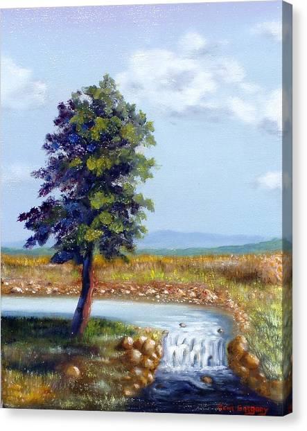 Michaels Waterfall Canvas Print