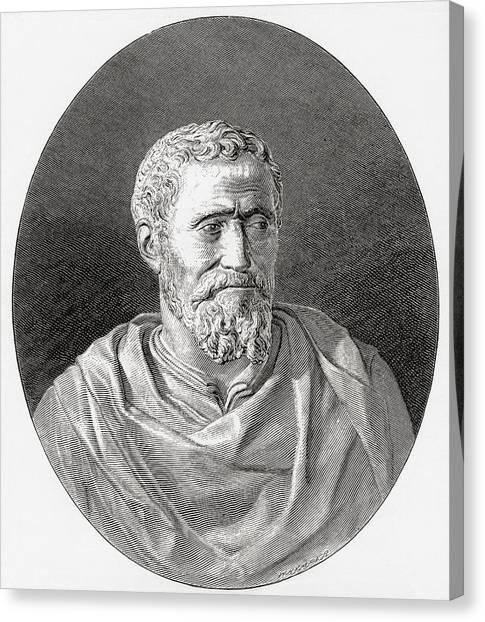 Michelangelo Simoni Canvas Print - Michelangelo Di Lodovico Buonarroti by Vintage Design Pics