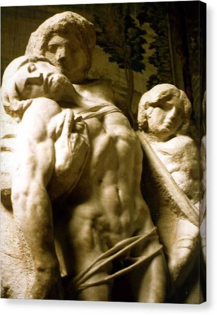 Michelangelo Unfinished Work Canvas Print