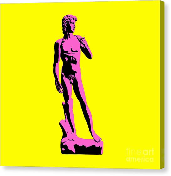 Andy Warhol Canvas Print - Michelangelos David - Punk Style by Pixel Chimp