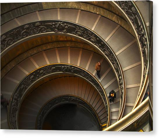 Michelangelo's Spiral Stairs Canvas Print