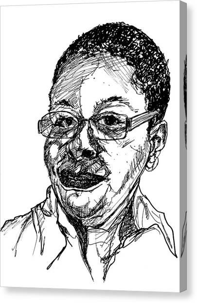Michelle Caricature Canvas Print