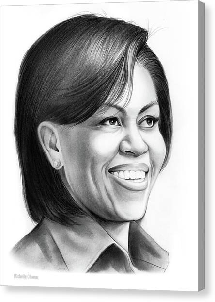 Harvard Canvas Print - Michelle Obama by Greg Joens
