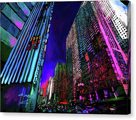 Michigan Avenue, Chicago Canvas Print