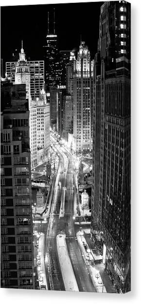 Long Street Canvas Print - Michigan Avenue by George Imrie Photography