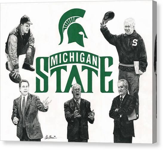 Michigan State Coaching Legends Canvas Print