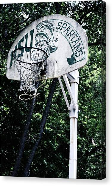Michigan State Practice Hoop Canvas Print