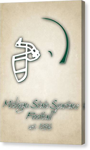 Michigan State University Canvas Print - Michigan State Spartans Helmet 2 by Joe Hamilton