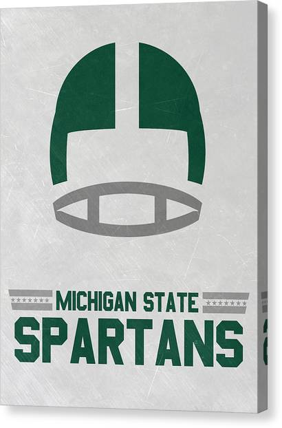 Michigan State University Canvas Print - Michigan State Spartans Vintage Art by Joe Hamilton