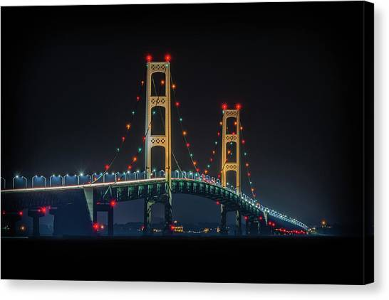 Michigan's Nightlight Canvas Print