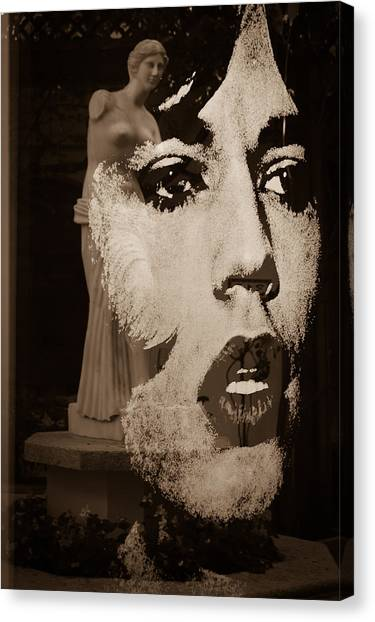 Mick Black And White Canvas Print
