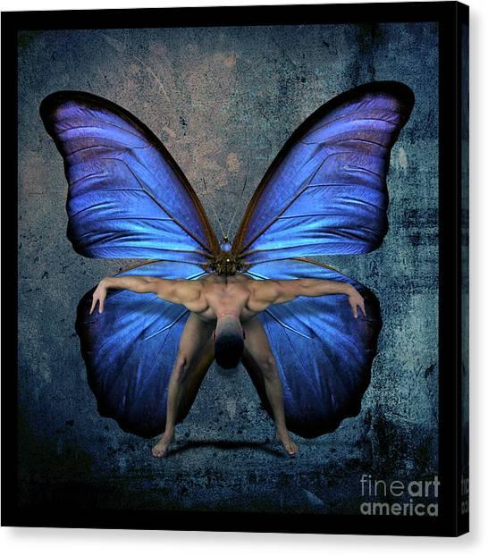Sensual Canvas Print - Mick Blue  by Mark Ashkenazi
