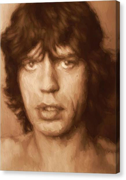Moves Like Jagger Canvas Print - Mick by Dan Sproul