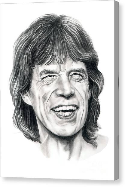 Mick Jagger Canvas Print - Mick Jagger by Murphy Elliott