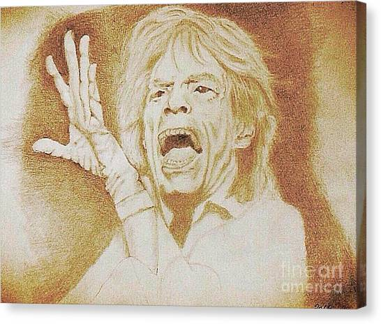 Mick Jagger Of The Rolling Stones Canvas Print