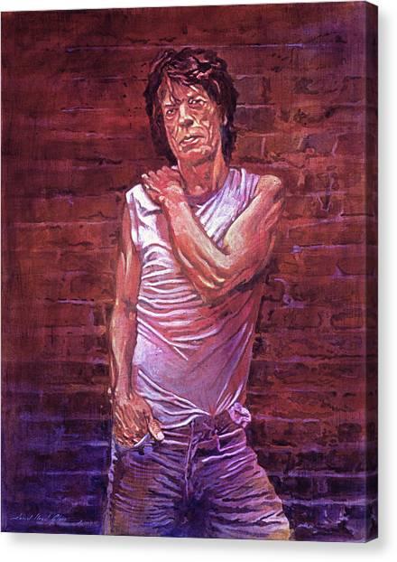Mick Jagger Canvas Print - Mick Jagger The Wall by David Lloyd Glover