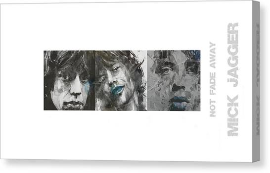Rolling Stones Canvas Print - Mick Jagger Triptych by Paul Lovering